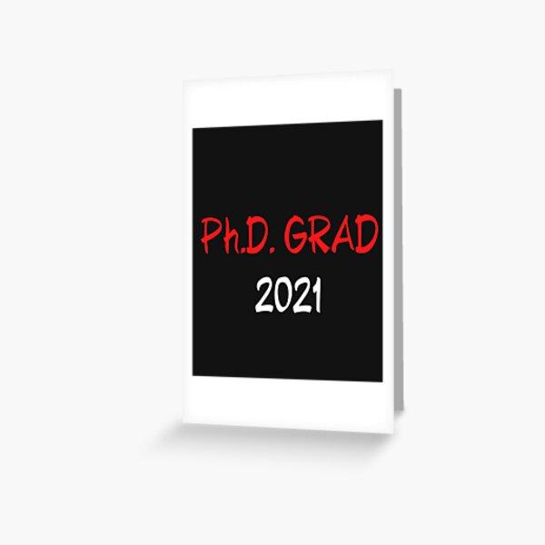 Doctorado divertido Graduación Estudiante de doctorado Regalo Camiseta esencial: sobreviví a la escuela de posgrado Tarjetas de felicitación