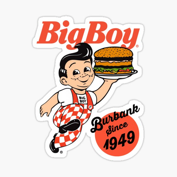 Bob's Big Boy Burger Burbank Since 1949 Sticker
