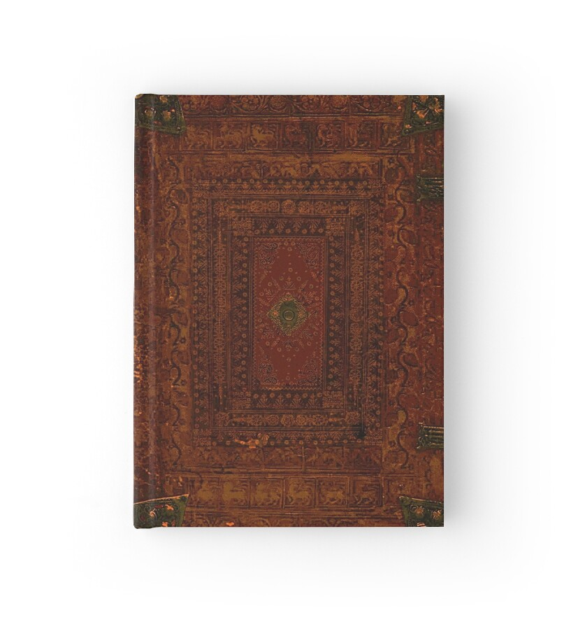 Leather Book Cover Design : Quot rustic engraved leather book cover design hardcover