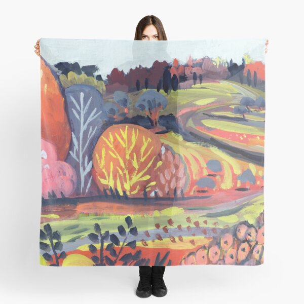 Candy Hills - Abstract Landscape #5 Scarf
