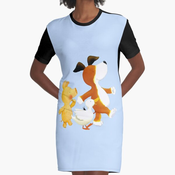 Kipper the dog and friends Graphic T-Shirt Dress