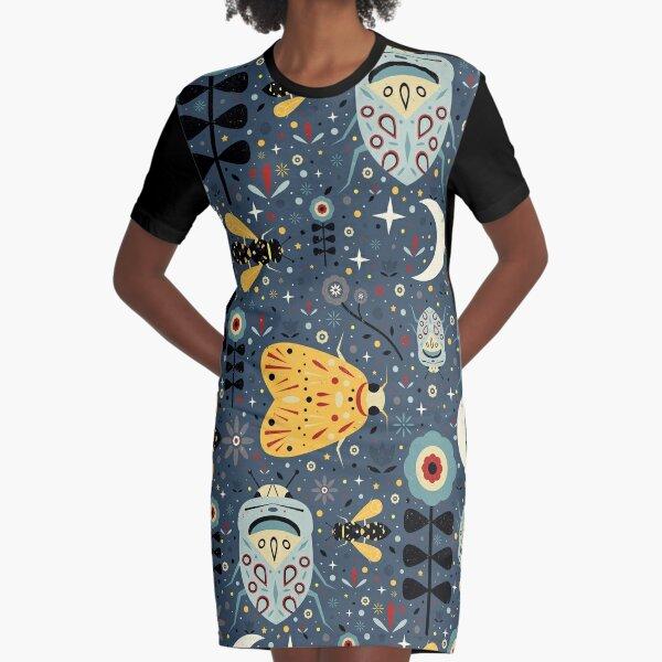 Midnight Bugs Graphic T-Shirt Dress