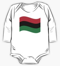 Red, Black & Green Flag One Piece - Long Sleeve