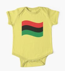 Red, Black & Green Flag One Piece - Short Sleeve