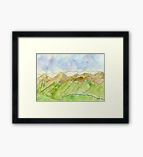 Mountains // Landscape – Daily painting #830 Framed Print