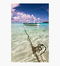 Moored Dhoni. Maldives Photographic Print
