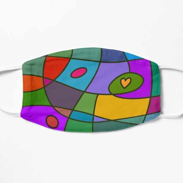 Abstract Art With Love Flat Mask