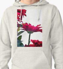 Red Chrysanthemum Flowers Pullover Hoodie