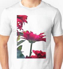 Red Chrysanthemum Flowers T-Shirt