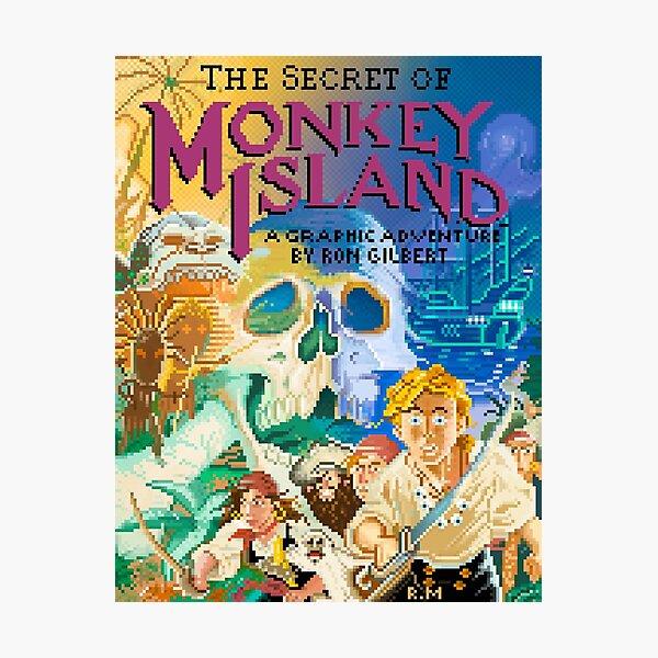 THE SECRET OF THE PIXELED MONKEY ISLAND Lámina fotográfica