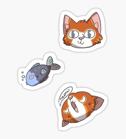 cat faces Sticker