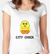City Chick Women's Fitted Scoop T-Shirt