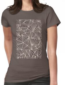 Ab Fan Grey And Nude Womens Fitted T-Shirt