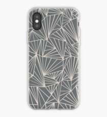Ab Fan Grey And Nude iPhone Case
