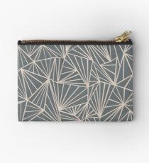 Ab Fan Grey And Nude Studio Pouch