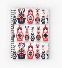 Russian Nesting Dolls – Hot Pink Spiral Notebook