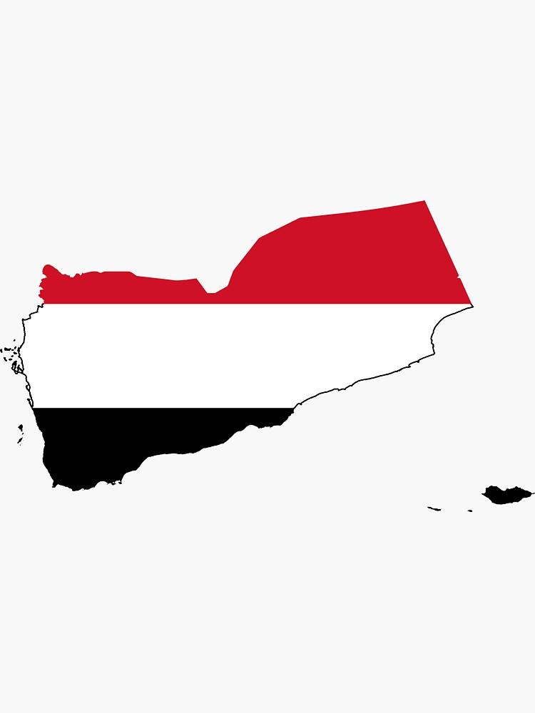 Flag Map of Yemen  by abbeyz71