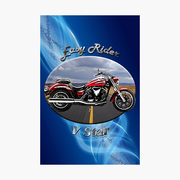 Yamaha V Star Easy Rider Photographic Print