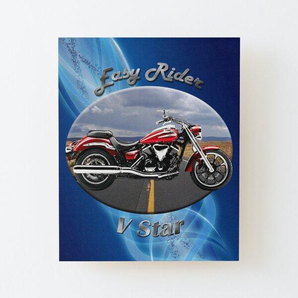 Yamaha V Star Easy Rider Wood Mounted Print