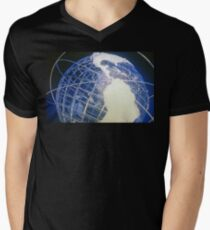 The Unisphere Men's V-Neck T-Shirt