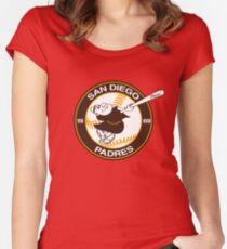 Swinging Friar 1969 San Diego Padres - One Of A Kind Women's Fitted Scoop T-Shirt