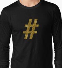 # hashtag | Golden Long Sleeve T-Shirt
