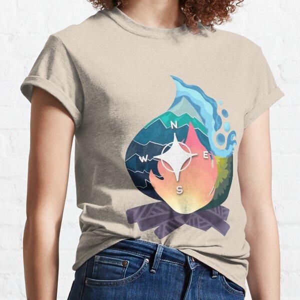 travel bonfire mountain forest sea Classic T-Shirt