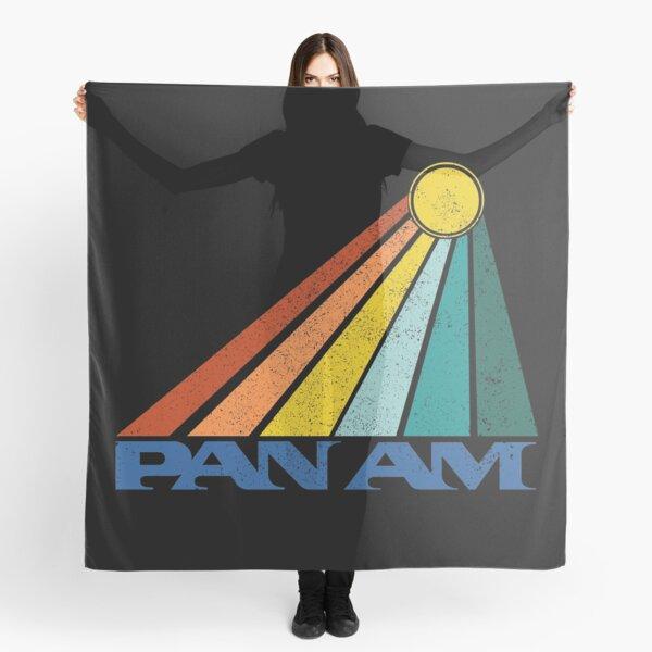 Pan Am Sunset Logo Black Distressed Rainbow Sunbeam Scarf