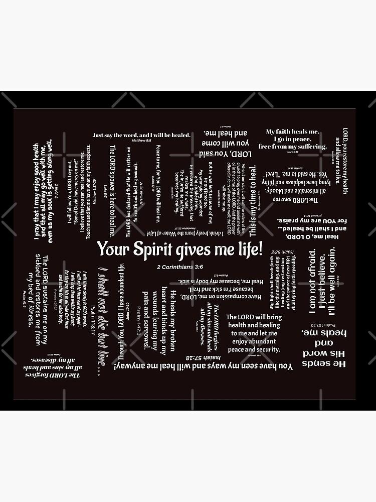 Healing Scriptures Blanket - Black by kimholmberg
