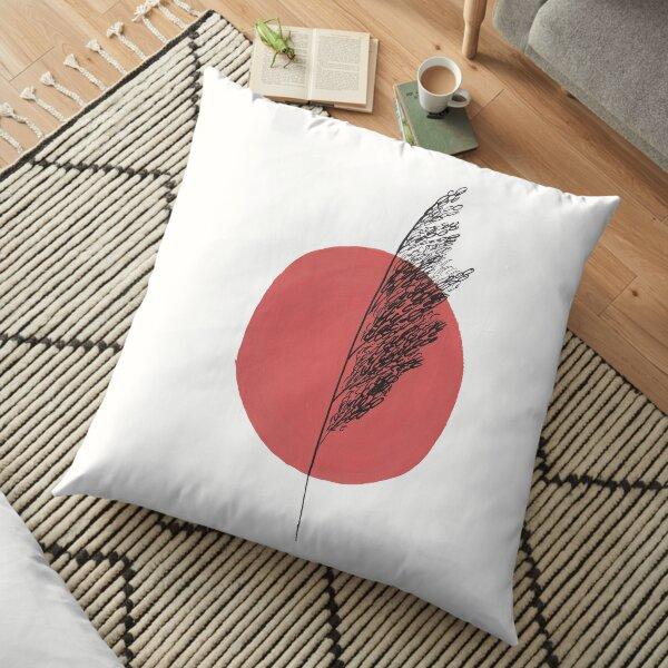 Sunset Grass Floor Pillow