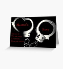Bdsm cards to master Free