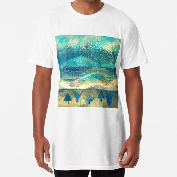 Reflections: landscape abstract art Long T-Shirt