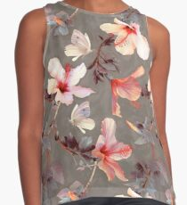 Coral Hibiscus Contrast Tank