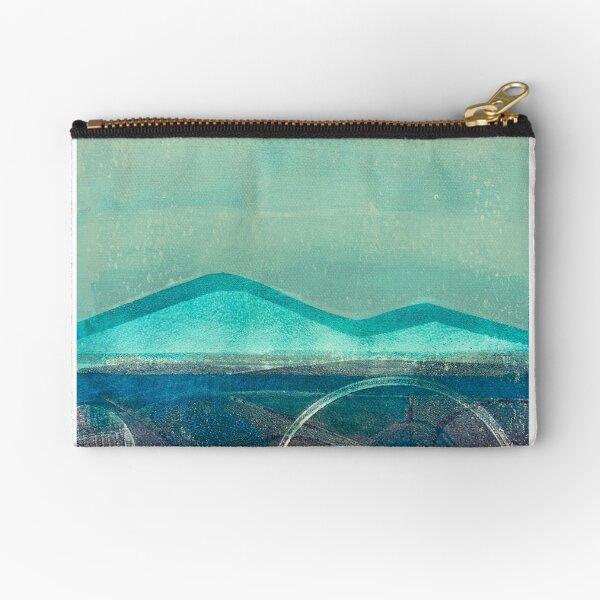 Blue mountains:  landscape art print Zipper Pouch