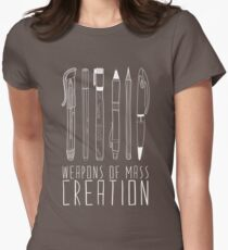 Weapons Of Mass Creation (on grey) Womens Fitted T-Shirt