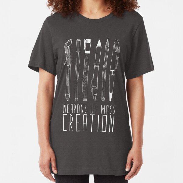Waffen der Massenerschaffung (auf grau) Slim Fit T-Shirt