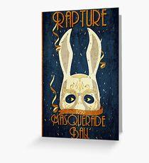 Tarjeta de felicitación Rapture Masquerade Ball 1959