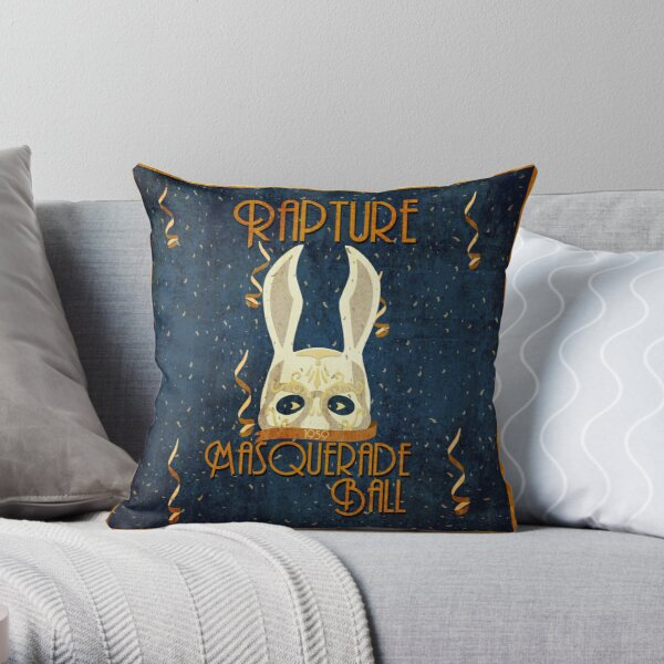 Rapture Masquerade Ball 1959 Throw Pillow