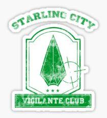 Starling City Vigilante Club 2 Sticker