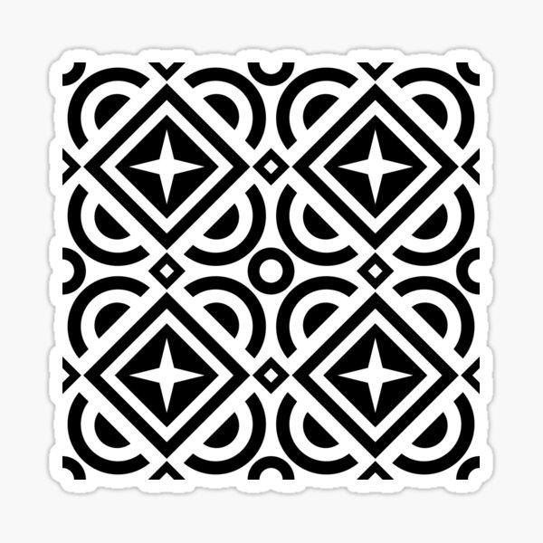 Square pattern Sticker