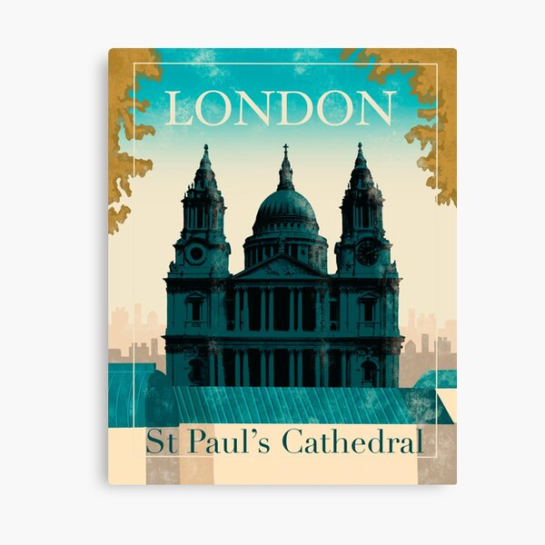 London St Paul's Cathedral  Canvas Print
