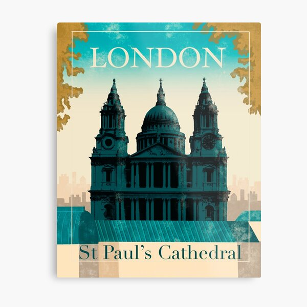 London St Paul's Cathedral  Metal Print