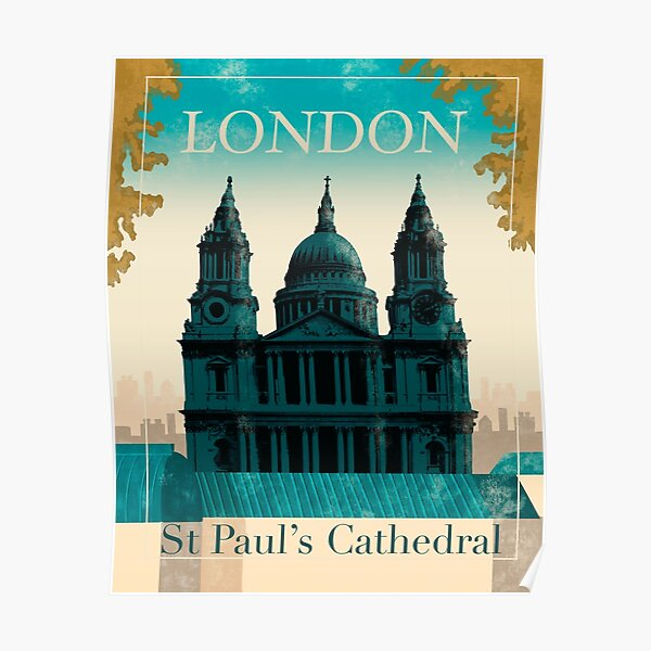 London St Paul's Cathedral  Poster
