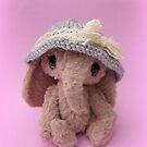 Handmade bears from Teddy Bear Orphans - Emmylou Elephant by Penny Bonser