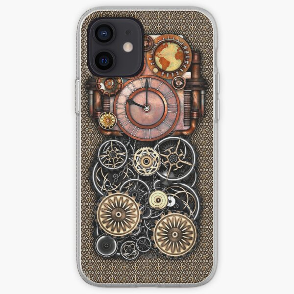 Infernal Steampunk Timepiece #2 Vintage Steampunk phone cases iPhone Soft Case