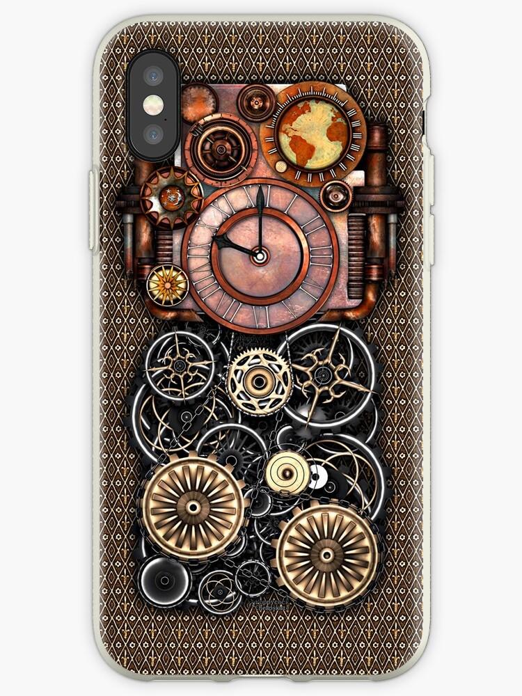 Infernal Steampunk Timepiece #2 Vintage Steampunk phone cases by Steve Crompton
