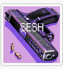 pistol and bullets Sticker