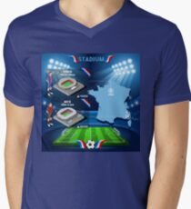 Paris Nice Stadium Infographics Men's V-Neck T-Shirt
