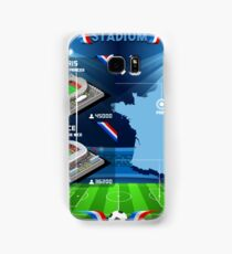 Paris Nice Stadium Infographics Samsung Galaxy Case/Skin