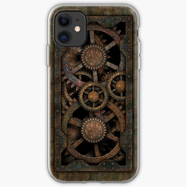Infernal Steampunk Gears Vintage Steampunk phone cases iPhone Soft Case